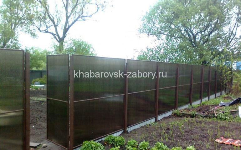изготовление заборов из поликарбоната в Хабаровске